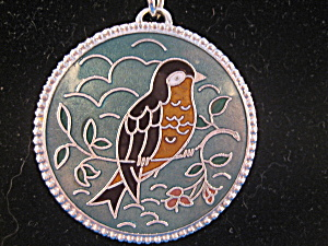 Painted Robin Locket From Sara Coventry