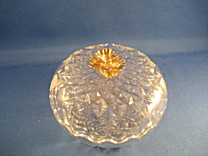 Lead Crystal Candy Dish Made In Yugoslavia