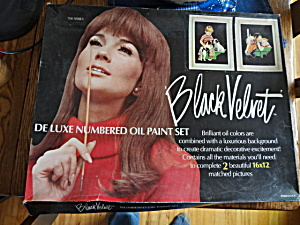 Black Velvet Paint By Number Paint Set