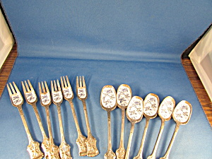 Six Enamel Forks And Spoons