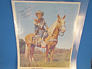 Roy Rogers And Trigger Signed Picture