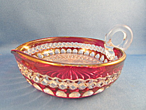 Red And Clear Candy Dish