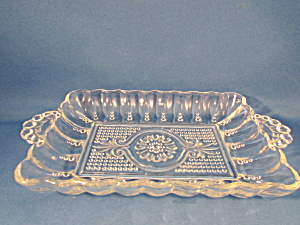 Handle Clear Glass Relish Dish