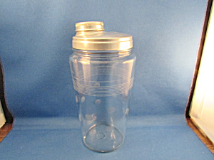 Glass And Aluminum Cocktail Shaker