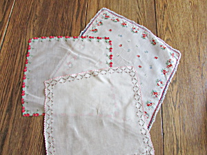 Three Edged Handkerchiefs