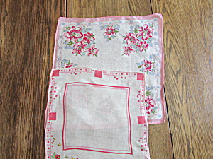 Two Pink Handkerchiefs