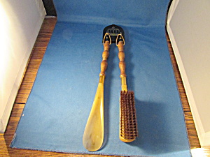 Shoe Horn And Brush Set
