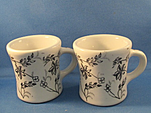 Two Wellsville China Restaurant Cups