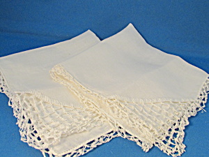 Two Lace Handkerchief
