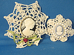 Hand Made Cameo Brooches