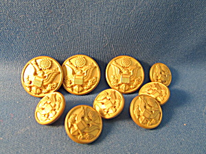 W.b. Metal Military Buttons