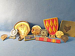 Military Group Of Buttons And Pins