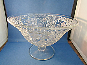 Large Etched Glass Bowl
