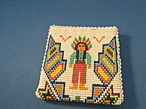 Native American Motif Beaded Wallet