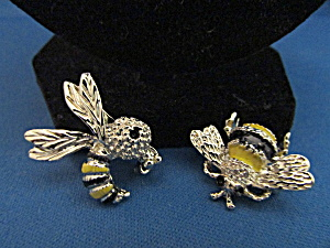 Two Bumble Bee Pins