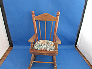 Wooden Rocking Chair Pin Cushion