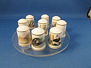 Wild Animal Thimble Collection