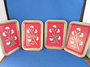 Painted Tin Tip Trays