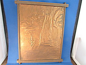 Folk Art Nautical Copper Picture
