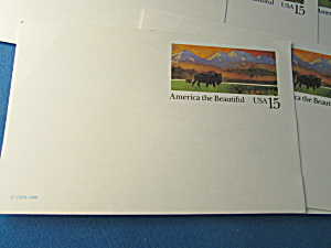 Seven America The Beautiful Blank Post Card