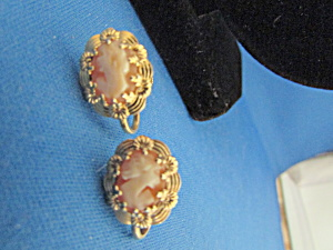 Small Cameo Earrings