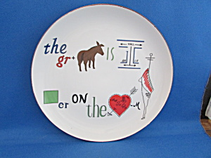 The Grass Is Always Greener Plate