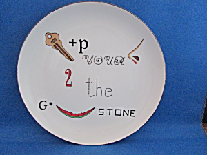 Keep Your Nose To The Grindstone Plate