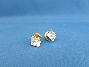 Clear Rhinestone Tie Tac Or Lapel Pins