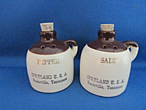 Brown Jug Salt And Pepper Shakers From Opryland Usa