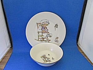 Lenox Child's Bowl And Plate