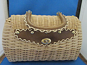 Two Sides Wicker Purse From Bags By Donna