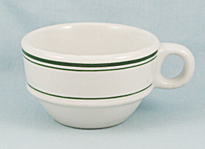 Sterling China Cup - Green Lines