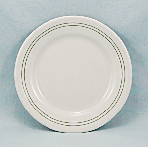 Carr China - Small Plate - Green Lines