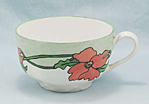 Haviland Cup - Orange Floral With Greens