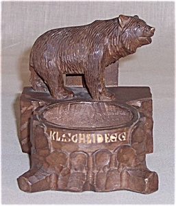 Black Forest Bear - Ash Tray/ Match Holder