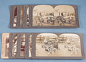 9 Antique Stereoview Photo Cards, Keystone View Company