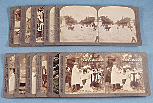 11 Antique Stereoview Photo Cards, Underwood & Underwood Publishers