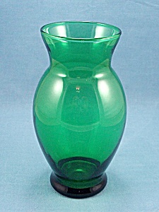 Anchor Hocking - Forest Green Vase - B