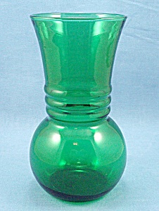 Anchor Hocking - Forest Green -vase - C