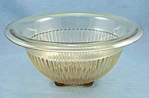 Amber Paneled Mixing Bowl