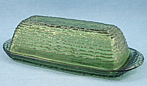 Anchor Hocking - Soreno - Butter Dish - 1960's Avocado