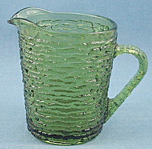Anchor Hocking - Soreno - Creamer / Cream Pitcher - 1960's Avocado