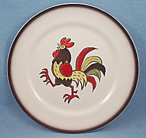 Metlox - Poppy Trail - Red Rooster - Dinner Plate