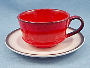 Metlox - Poppy Trail - Red Rooster - Cup & Saucer