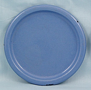 Columbian Enameled / Granite Ware Coaster - Terre Haute, Indiana - Blue B
