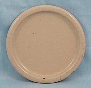 Columbian Enameled / Granite Ware Coaster - Terre Haute, Indiana - Cream
