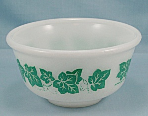 Hazel Atlas - Bowl, Green Ivy