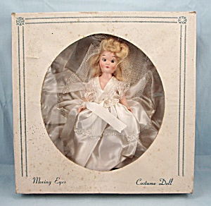 Costume Doll / #201 Bride Doll/ Original In Box / Moving Eyes, Head & Arms