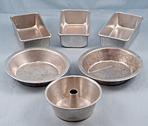 6 -mini Aluminum Toy Pans - Like Mother's