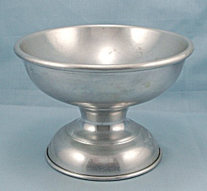 Footed Aluminum Centerpiece Bowl